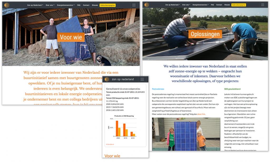 webpagina's zonopnederland.nl