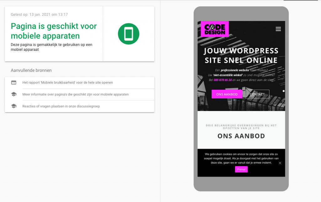 zo wordt je webshop gevonden op internet, mobile friendly Code en Design