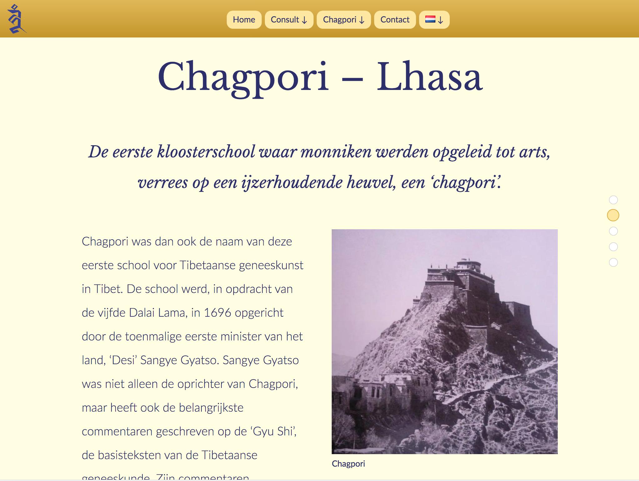 Chagpori site voor praktijk iPad Landscape